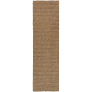 StyleHaven Stripes Tan/Sand Indoor-Outdoor Area Rug (More options available)