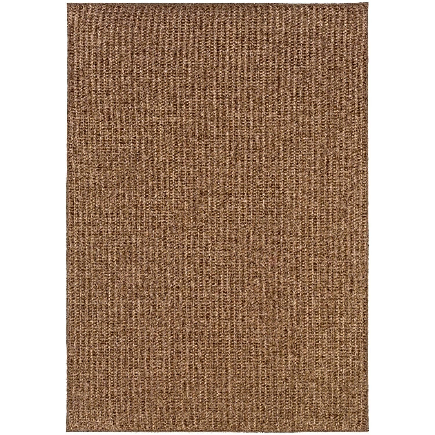 Stylehaven Woven Solid Tan Indoor Outdoor Area Rug
