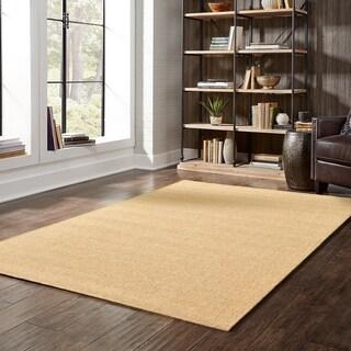 Outdoor/Indoor Tan/Brown Area Rug