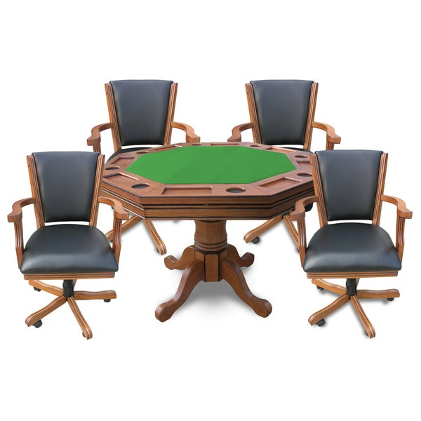 Hathaway Kingston 3-in-1 Poker Table with Chairs