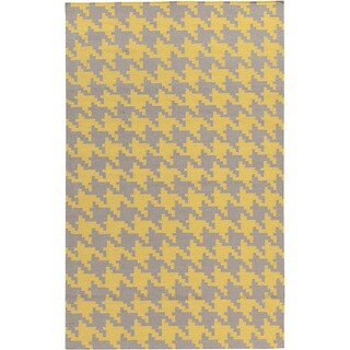 Hand-woven Lyons Geometric Wool Area Rug (More options available)