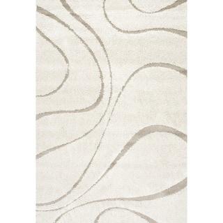 nuLOOM Luxuries Posh Shag Rug (Cream - 53 x 76)