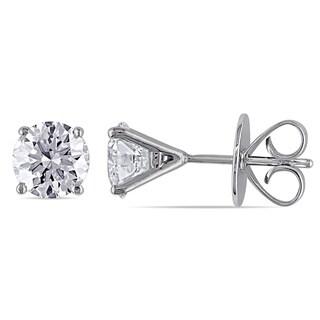 Miadora Signature Collection 18k White Gold 2ct TDW Diamond Earrings