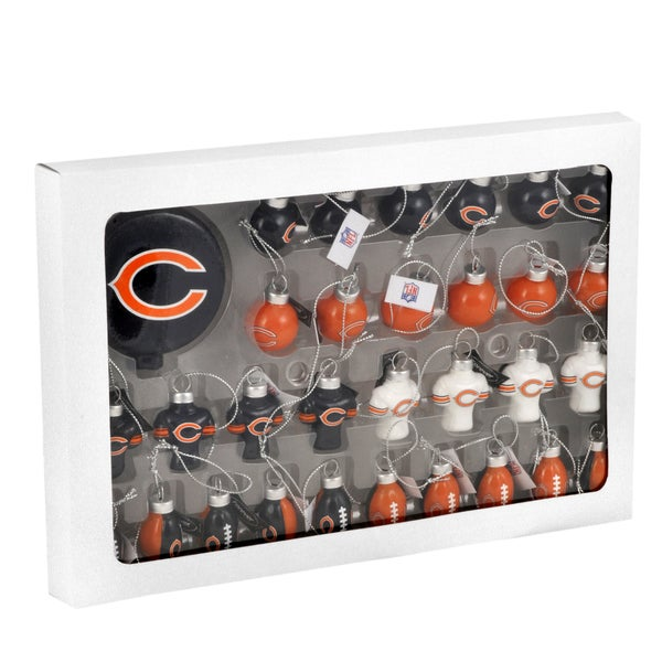 NFL 31-piece Glass Ornament Set