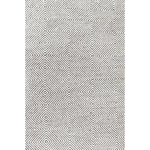 nuLOOM Handmade Concentric Diamond Trellis Wool/Cotton Area Rug
