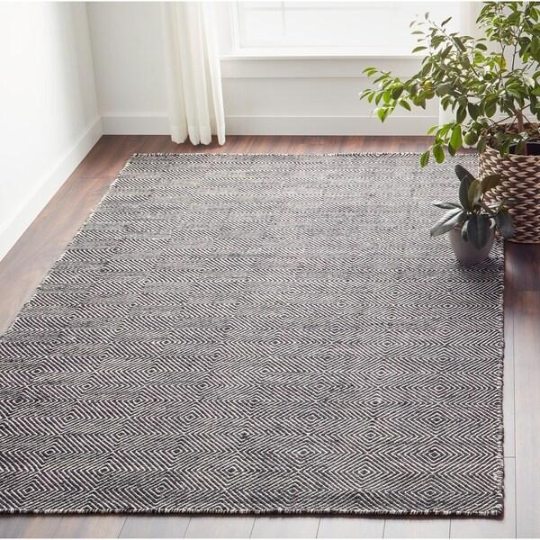 Nuloom Handmade Concentric Diamond Trellis Wool Cotton Area Rug