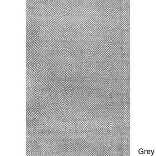 nuLOOM Handmade Concentric Diamond Trellis Wool/ Cotton Rug