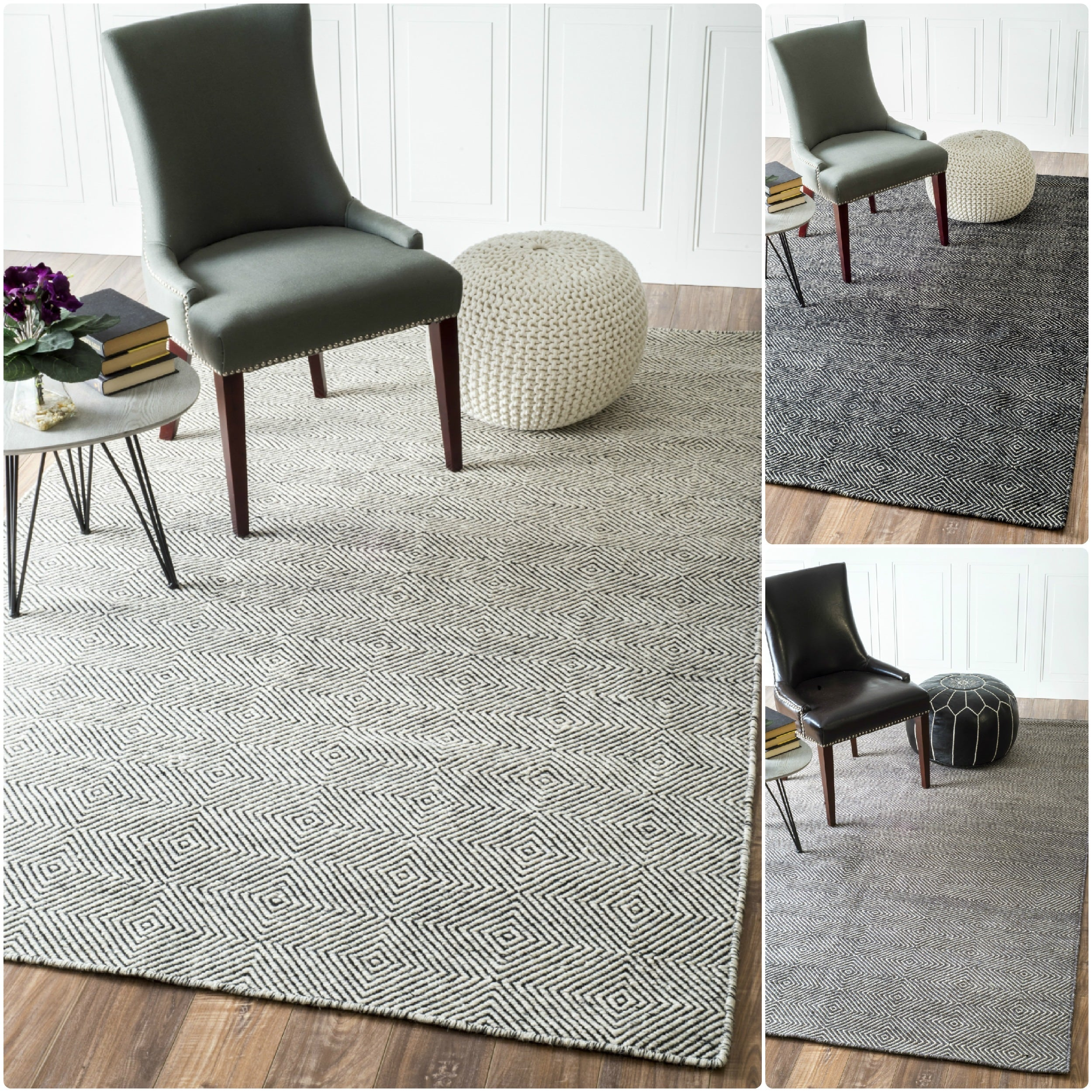 modern weavers york awhd geometric gray white rug trellis products super artistic graywhite