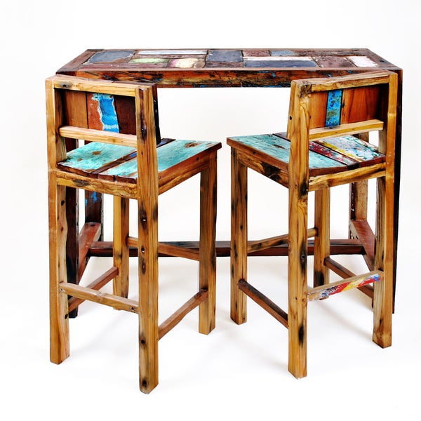 Ecologica Reclaimed Wood BarTable