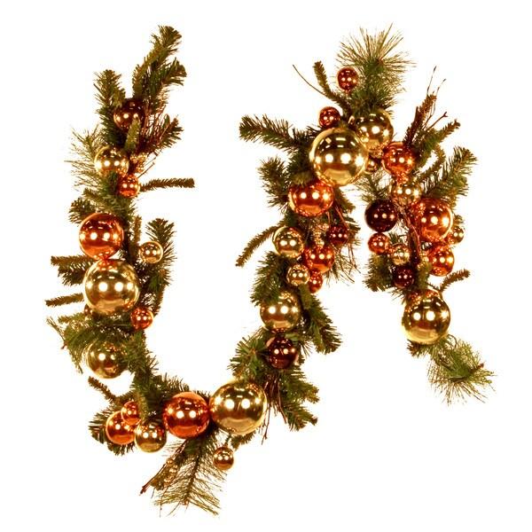 6-foot Gold Ornaments Holiday Garland