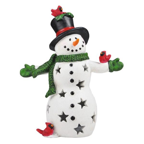 Somette Cardinal's Friend Snowman Accent Lamp