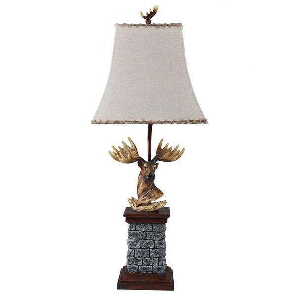 Somette Moose Lodge Jute Trim Table Lamp