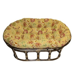 International Caravan Bali Rattan Double Papasan Chair with Indoor/Outdoor Cushion (More options available)