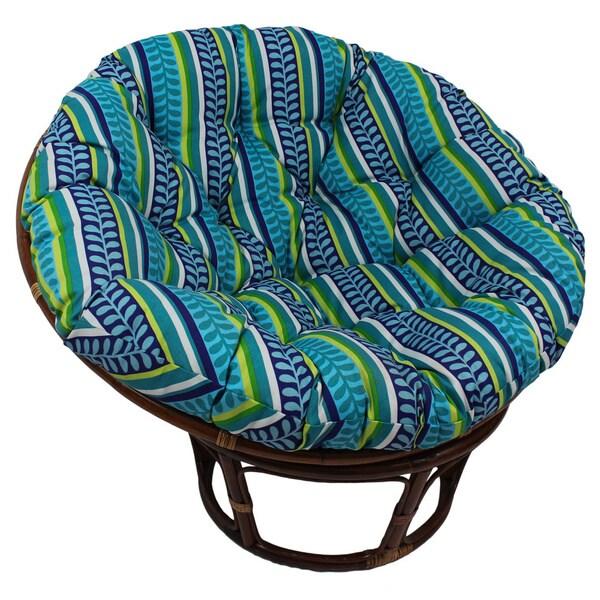 Delightful International Caravan Bali Outdoor 42 Inch Papasan Chair With Cushion