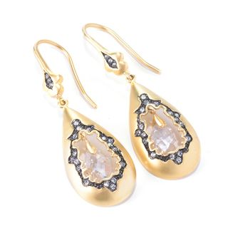 RICCOVA 14k Goldplated Crystal Center Teardrop Earrings