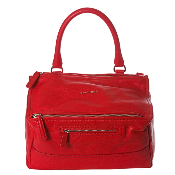 Givenchy 'Pandora' Medium Red Leather Satchel