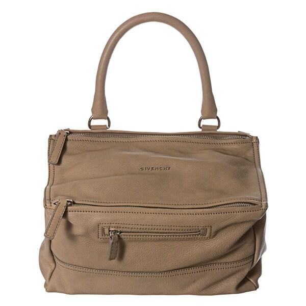 Givenchy 'Pandora' Medium Beige Leather Satchel