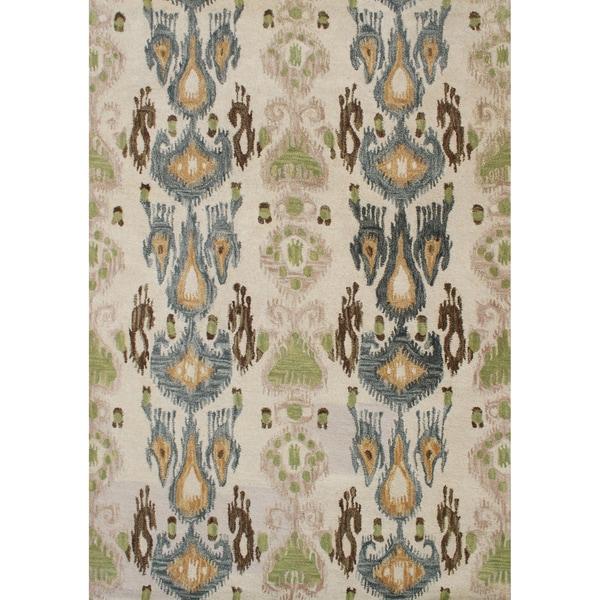 Alliyah Handmade Parrot Green New Zealand Blend Wool Rug (9' x 12')