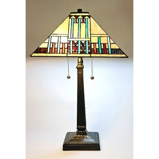 Tiffany Style Blue Mission Table Lamp