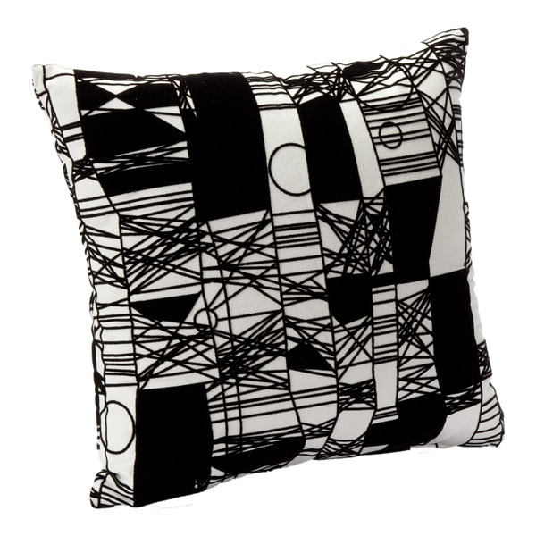 Shop Abstact Scratch Black White Decorative Accent Pillow