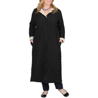 La Cera Women's Plus Size Puckered Reversible Long Coat https://ak1.ostkcdn.com/images/products/7521975/P14960010.jpg?impolicy=medium
