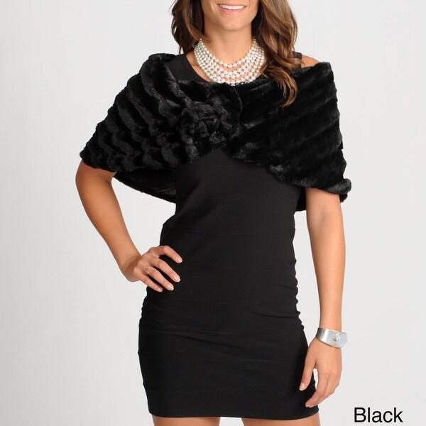 Ilana Women's Faux Fur Caplet