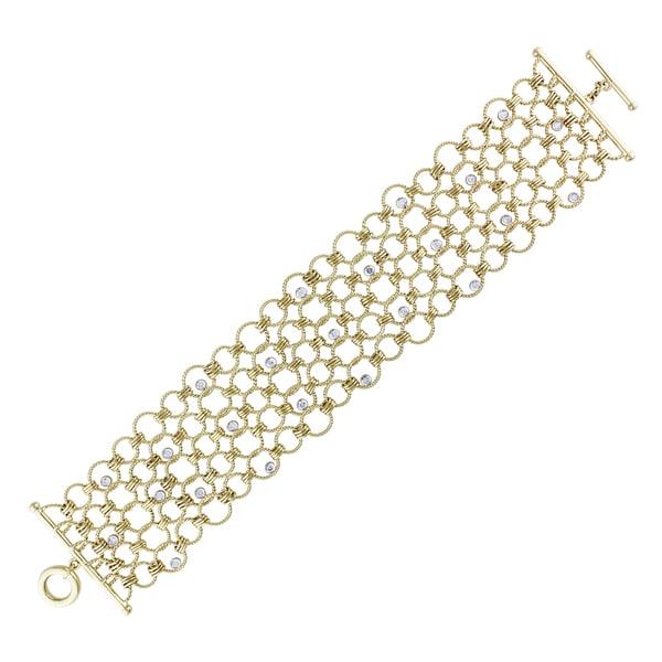 Miadora Signature Collection 14k Yellow Gold 3/5ct TDW Diamond Bracelet