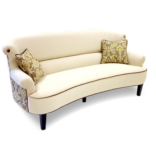 iKat Cream Curved Back Sofa. Opens flyout.