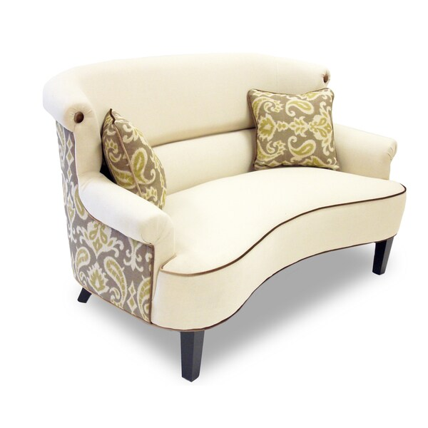 iKat Cream Curved Back Loveseat - Free Shipping Today ...