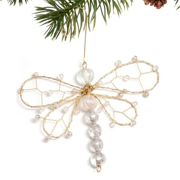 Beaded Dragonfly Ornament  , Handmade in India
