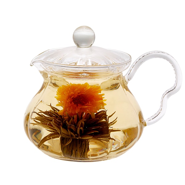 Tea Beyond Non-Dripping Hand-Crafted Heat-Resistant Glass Rose Series Fairy Teapot