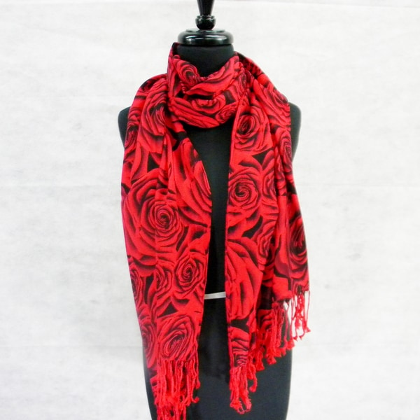 Field of Roses Pashmina Fashion Scarf