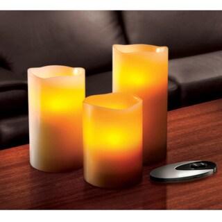 Sarah Peyton 3-piece Flameless LED Candle Set with Remote