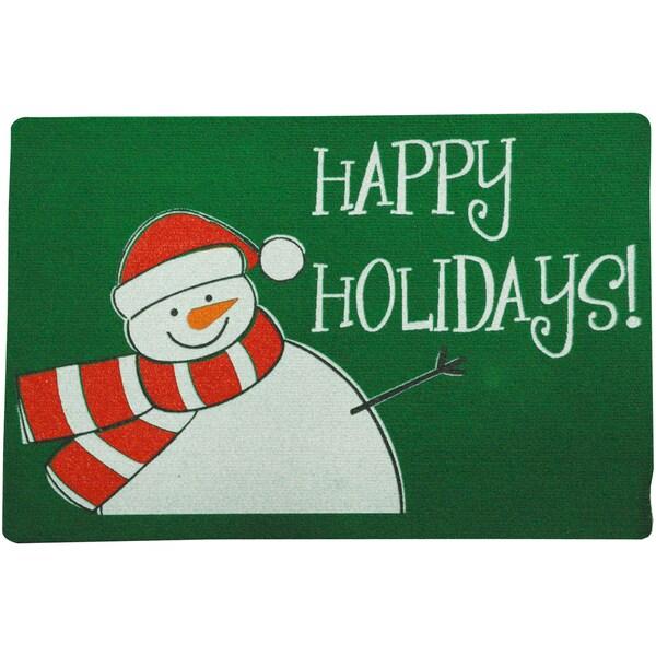 Oudoor Holidays Snowman Doormat