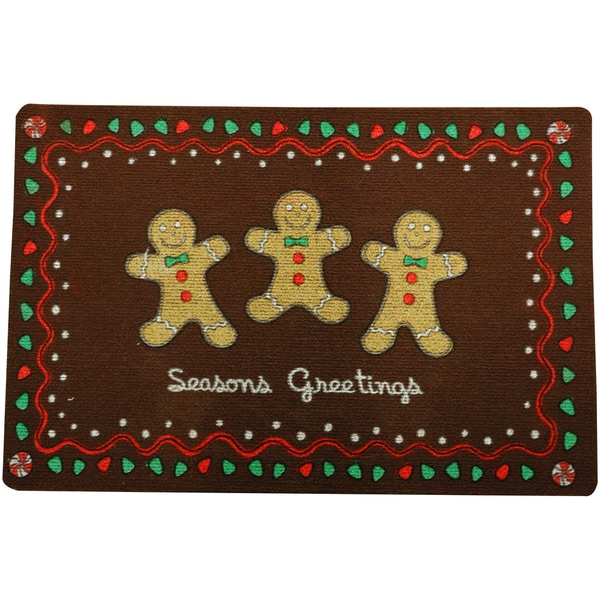 Outdoor Gingerbread Holiday Doormat Free Shipping On