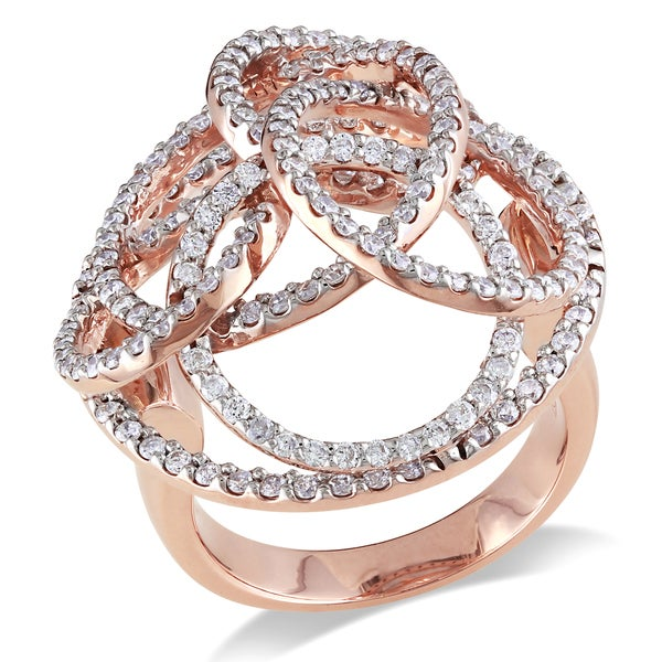 Miadora 14k Gold 1 3/5ct TDW Diamond Multi-circle Ring (H-I, SI1-SI2)