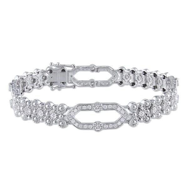 Miadora 14k White Gold 2ct TDW Diamond Bracelet (G-H, SI1-SI2)