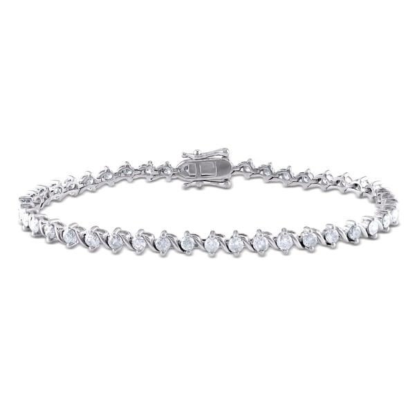 Miadora 14k Gold 3ct TDW Diamond Bracelet
