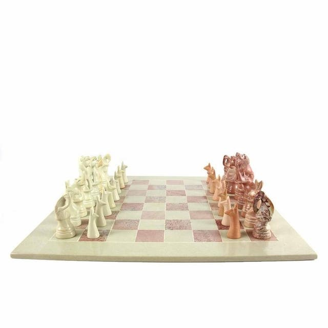 Decorative 14-inch Maasai Chess Set
