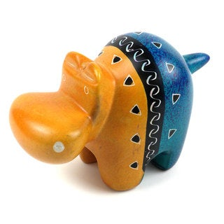 Handcrafted Abstract Soapstone Hippo (Kenya)