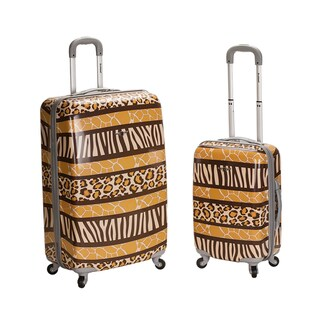 Rockland Safari 2-piece Lightweight Hardside Spinner Luggage Set