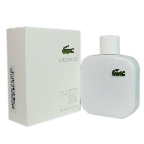 Lacoste Eau de Lacoste L.12.12 Blanc Men's 3.3-ounce Eau de Toilette Spray
