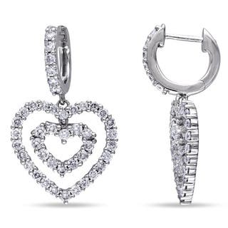 Miadora Signature Collection 14k Gold 1 4/5ct TDW Diamond Heart Earrings|https://ak1.ostkcdn.com/images/products/7523746/P14961392.jpg?impolicy=medium