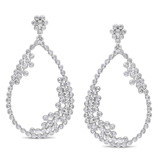 Miadora Signature Collection 14k White Gold 1 1/3ct TDW Diamond Earrings (G-H, SI1-SI2)