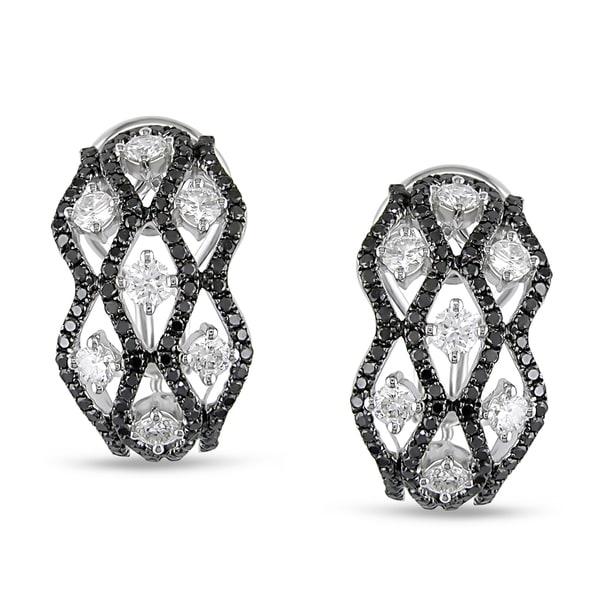 Miadora 18k White Gold 1 5/8ct TDW Diamond Earrings