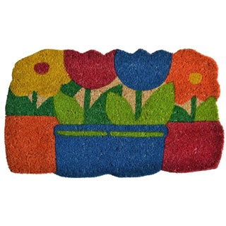 Flower Pots Door Mat