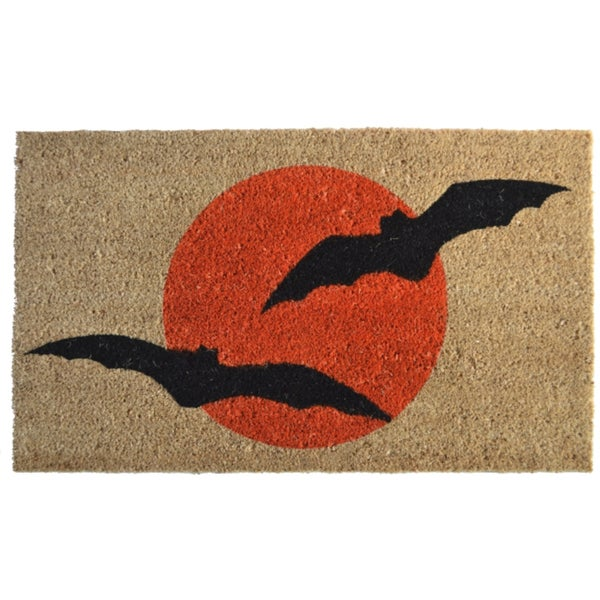Bat Print Door Mat  Free Shipping On Orders Over $45  ~ 010317_Halloween Doormat With Sound