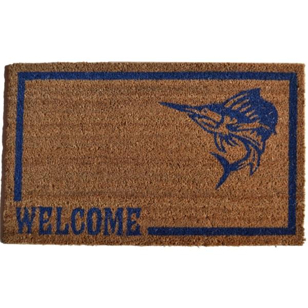 Swordfish Welcome Door Mat