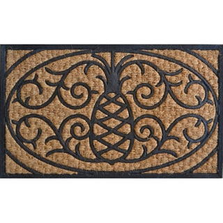 Pineapple Design Door Mat