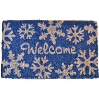 Welcome Snow Flakes Door Mat